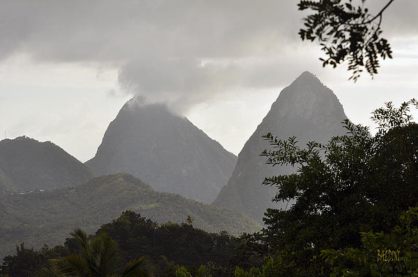 Pitons St Lucia Print by J R Baldini Master Photographer