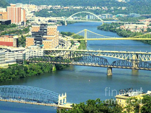 Pittsburgh City Of Bridges Print by Joe Jake Pratt