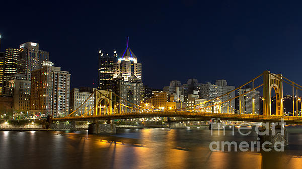 Pittsburgh Lights Print by Mike Vosburg