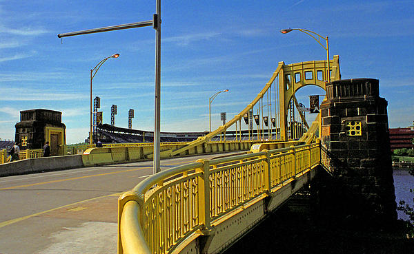 Pittsburgh - Roberto Clemente Bridge Print by Frank Romeo