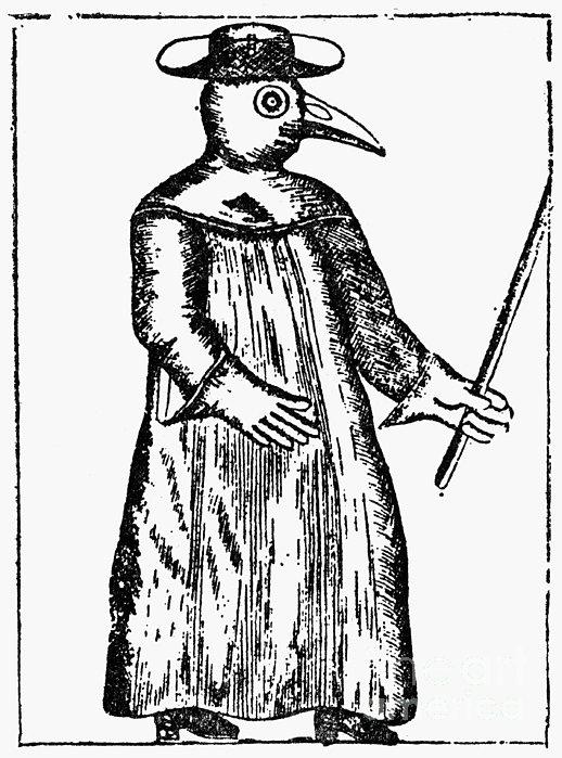 Plague Costume, 1720 Print by Granger
