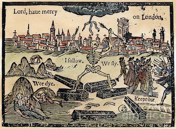 Plague Of London, 1665 Print by Granger