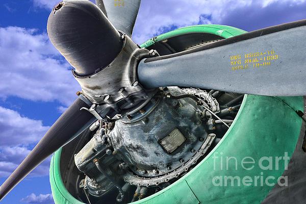 Plane Green Prop Print by Paul Ward