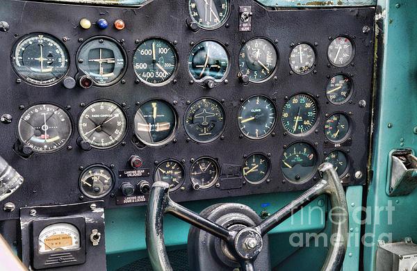 Plane The Cockpit Print by Paul Ward