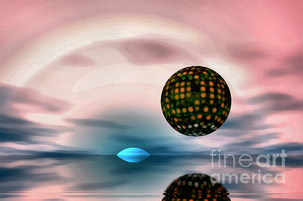 Planet Reflections Print by Odon Czintos