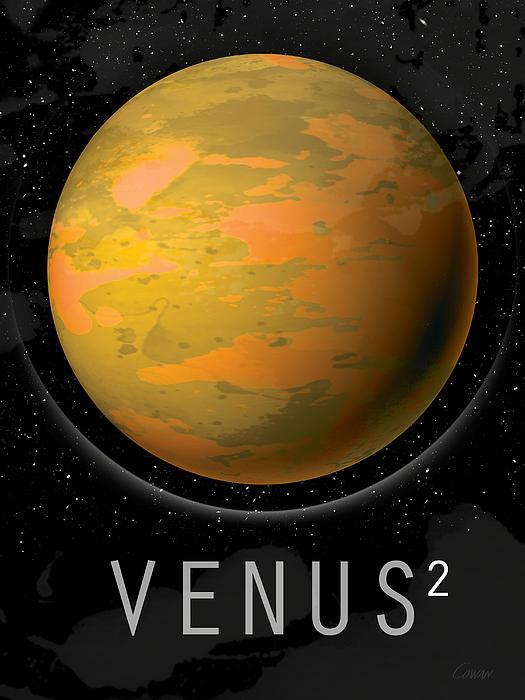 Planet Venus Print by David Cowan