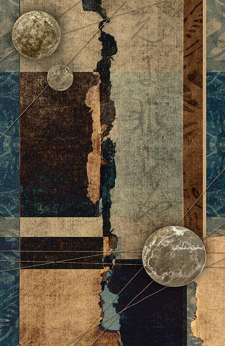 Planetary Shift #1 Print by Carol Leigh