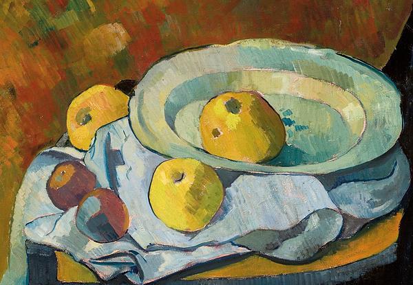 Plate Of Apples Print by Paul Serusier