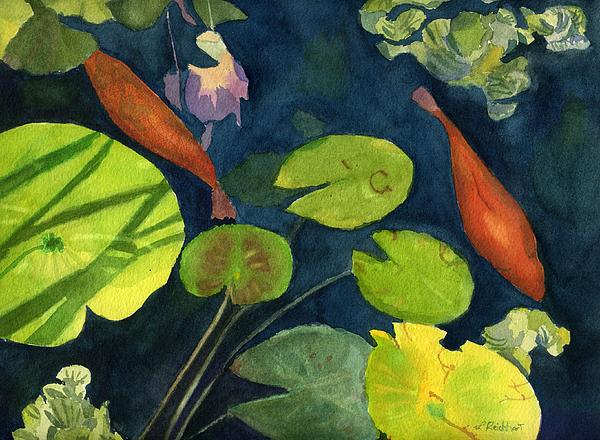 Playing koi by lynne reichhart for Playing koi