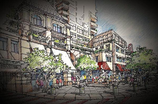 Plaza 2 Print by Andrew Drozdowicz