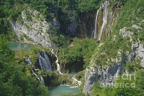 Plitvice Lakes In Croatia Print by Rudi Prott