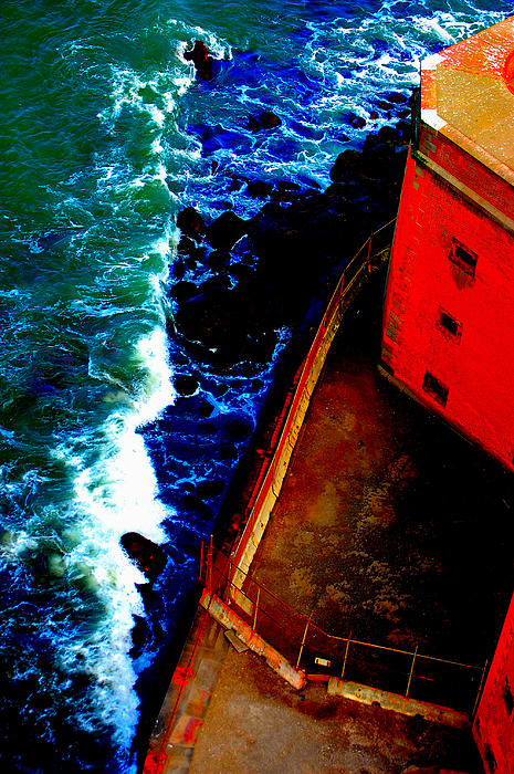Plunging From Golden Gate Print by Holly Blunkall