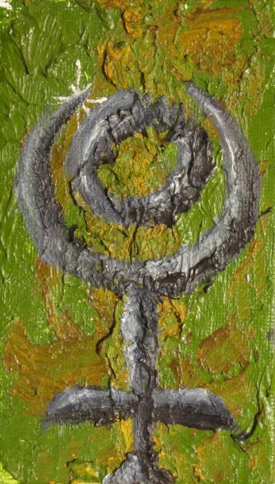 Pluto Glyph Print by Jeffrey Oleniacz