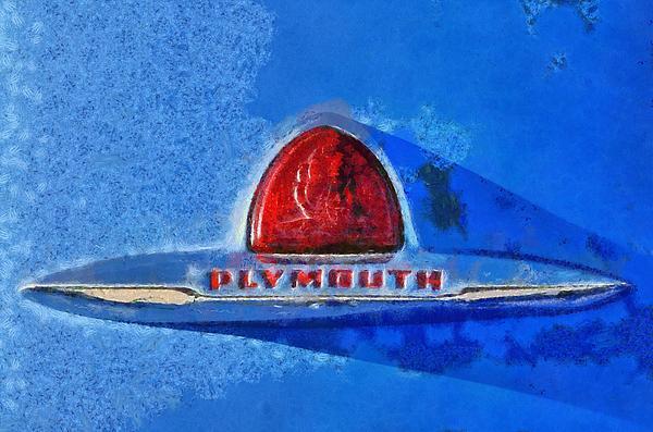 Plymouth Badge Print by George Atsametakis