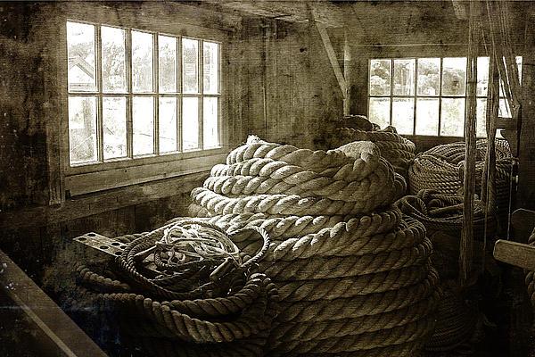 Plymouth Cordage Company Ropewalk Print by Cindi Ressler
