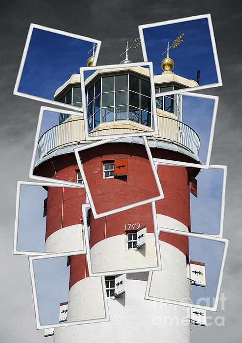 Plymouth Hoe Lighthouse Print by Donald Davis