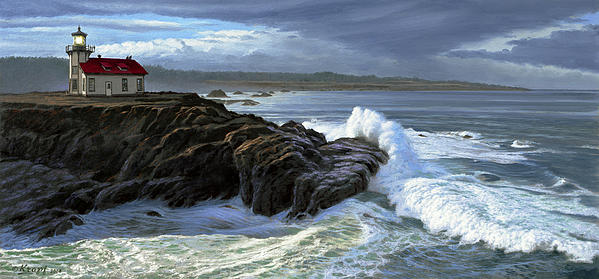 Paul Krapf - Point Cabrillo Lighthouse with Surf