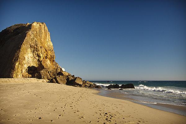 Point Dume At Zuma Beach Print by Adam Romanowicz