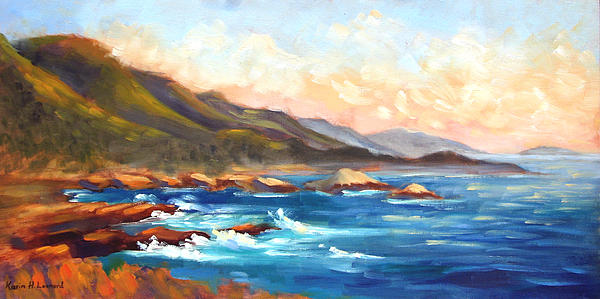 Point Lobos Sunset Print by Karin  Leonard
