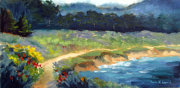 Point Lobos Trail Print by Karin  Leonard