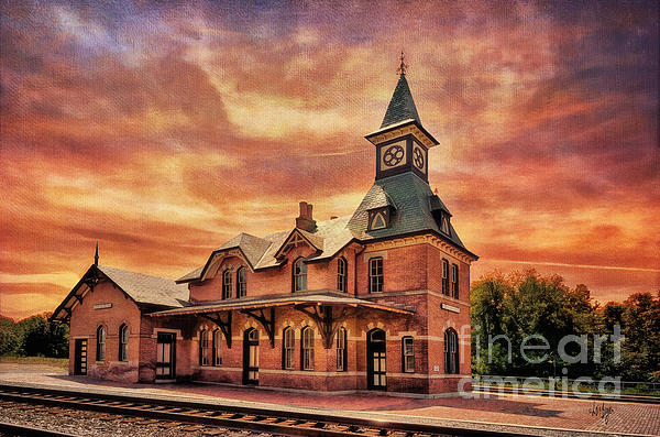 Point Of Rocks Train Station  Print by Lois Bryan