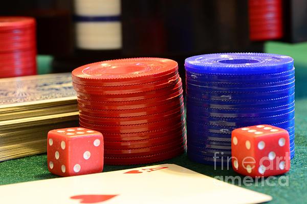 Poker Chips Print by Paul Ward