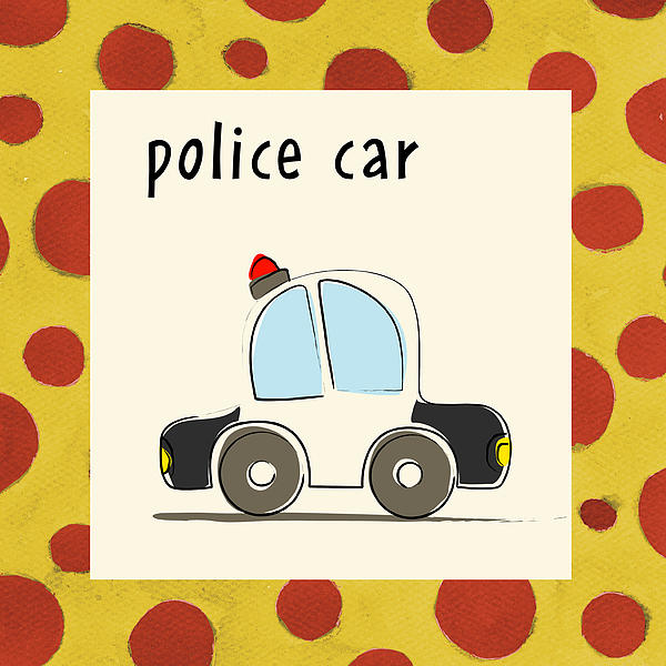 Police Car Print by Esteban Studio