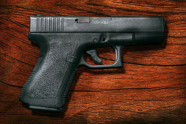 Police - Gun - The Modern Gun  Print by Mike Savad