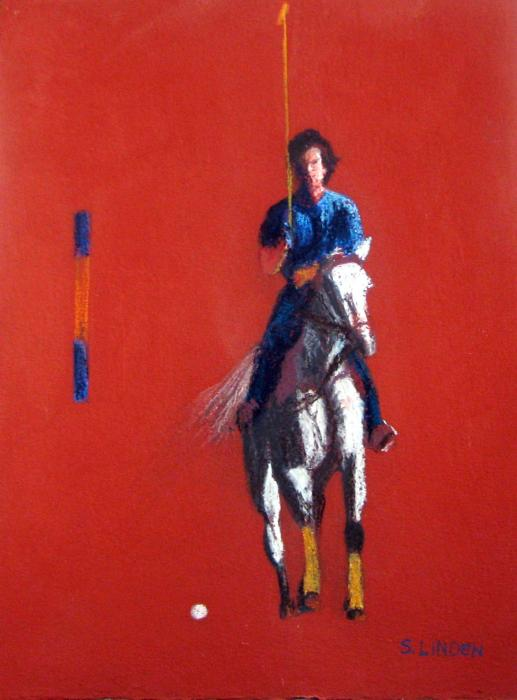 Polo Player Print by Sandy Linden