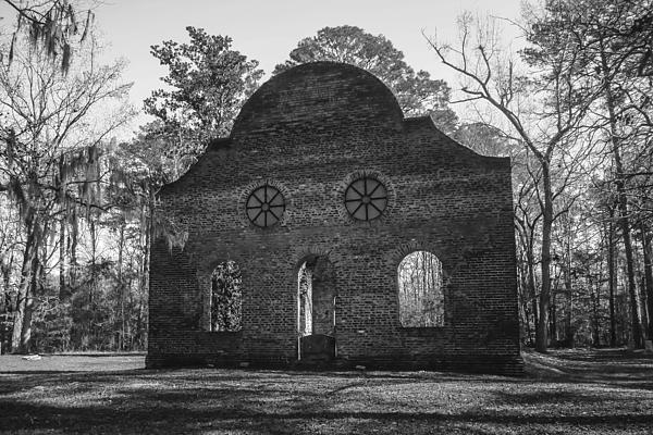 Pon Pon Chapel Of Ease 4 Bw Print by Steven  Taylor