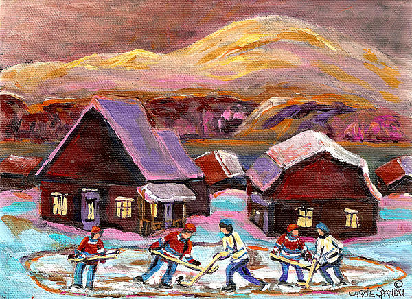 Pond Hockey 1 Print by Carole Spandau