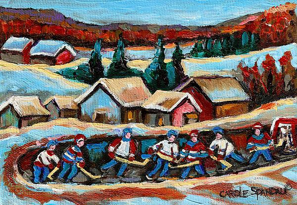 Pond Hockey 2 Print by Carole Spandau
