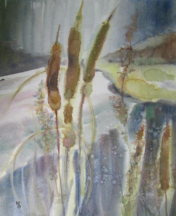 Pond overgrown with reeds by olga moshkina for Pond reeds for sale