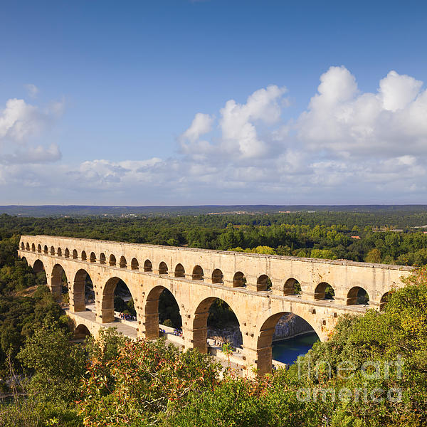 Pont Du Gard Roman Aqueduct Languedoc Roussillon France Print by Colin and Linda McKie