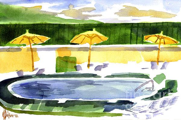 Poolside Print by Kip DeVore