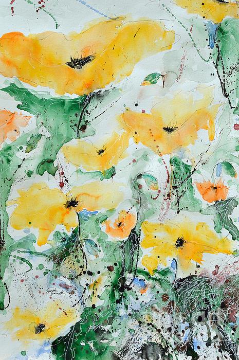 Poppies 07 Print by Ismeta Gruenwald