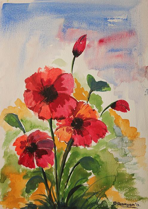 Poppy Blossom 2 Print by Shakhenabat Kasana