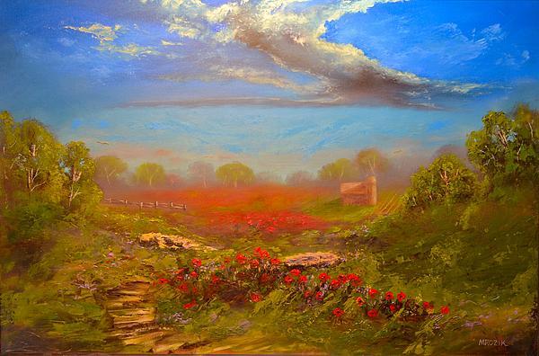 Poppy Morning Print by Michael Mrozik