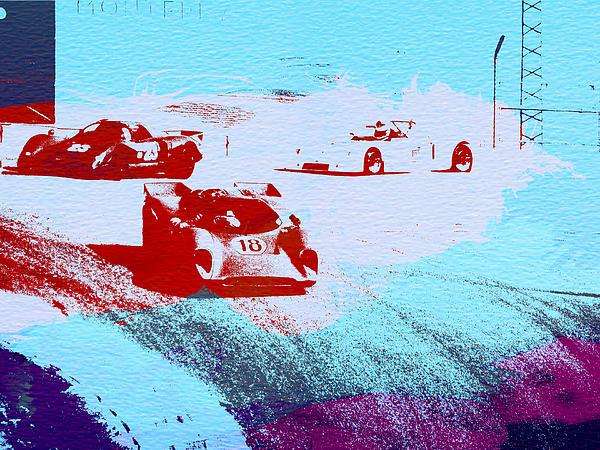 Porsche 917 Watercolor Print by Naxart Studio