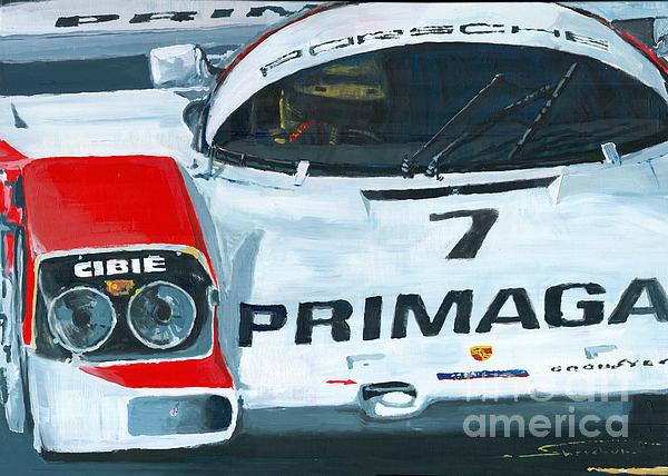 Porsche 962 Le Mans 24 Print by Yuriy Shevchuk