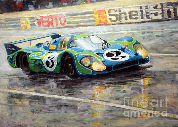 Porsche Psychedelic 917lh  1970  Le Mans 24  Print by Yuriy Shevchuk
