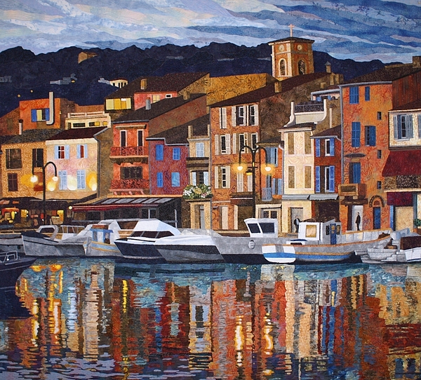 Port Of Cassis Print by Lenore Crawford