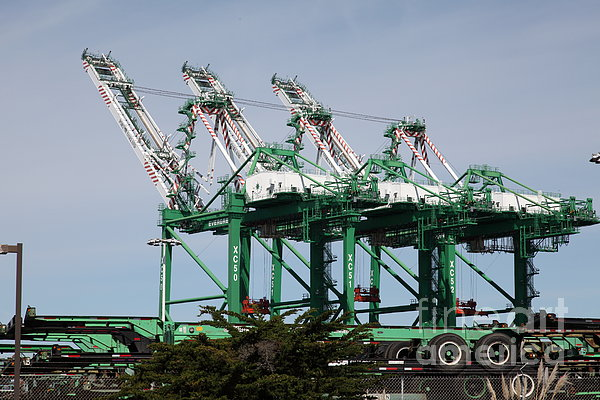 Port Of Oakland 5d22265 Print by Wingsdomain Art and Photography