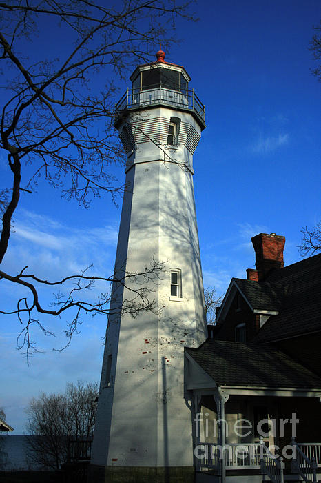 Port Sanilac Lighthouse Print by Kathy DesJardins