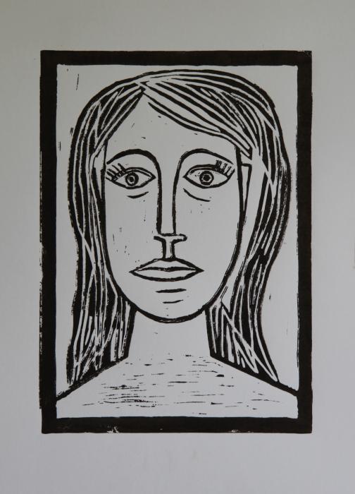 Portrait A La Picasso Print by Christiane Schulze Art And Photography
