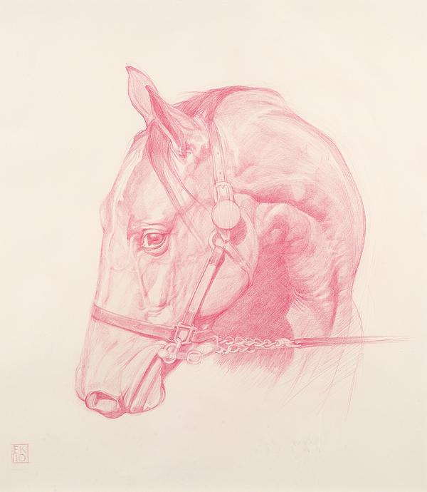 Portrait Head Print by Emma Kennaway
