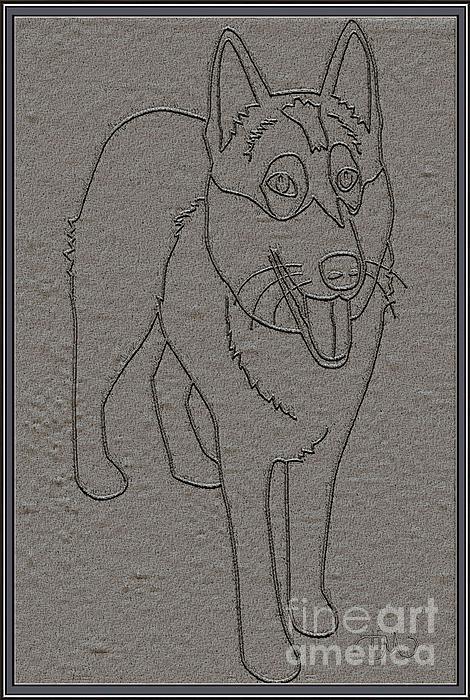 Portrait Of A Friend Poaf0001 Print by Pemaro
