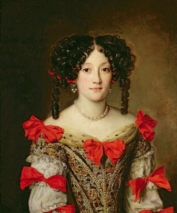 Portrait Of A Woman Print by Jacob Ferdinand Voet