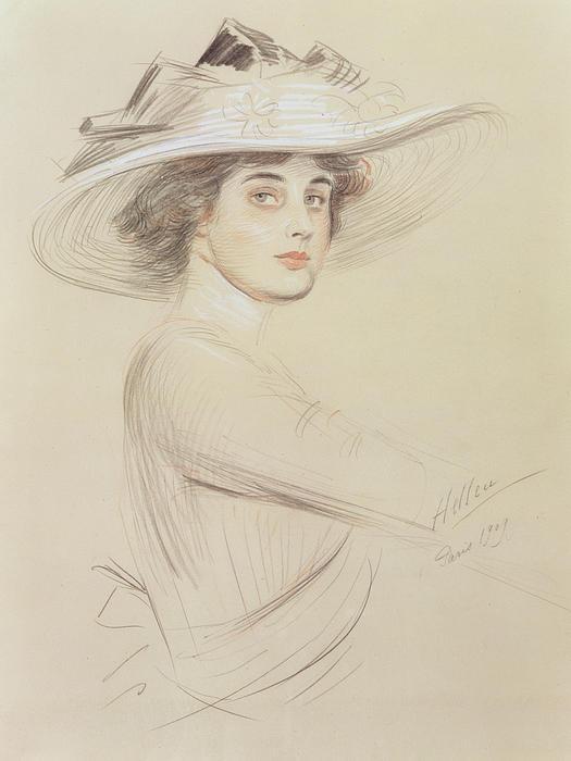 Portrait Of A Woman Print by  Paul Cesar Helleu