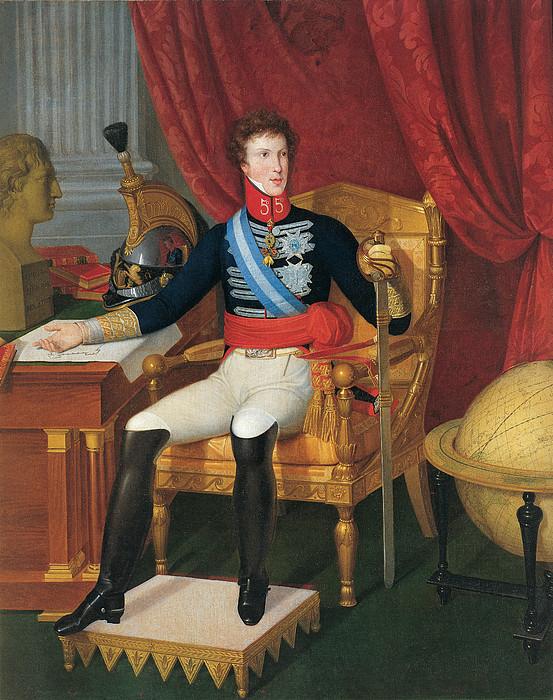 Portrait Of Carlo Lodovico Di Borbone Print by Italian School